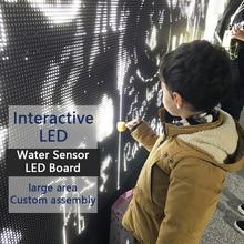 Интерактивный датчик воды светодиодный контакт вода будет светить вода граффити доска схемы для стены граффити стены или столешницы баров