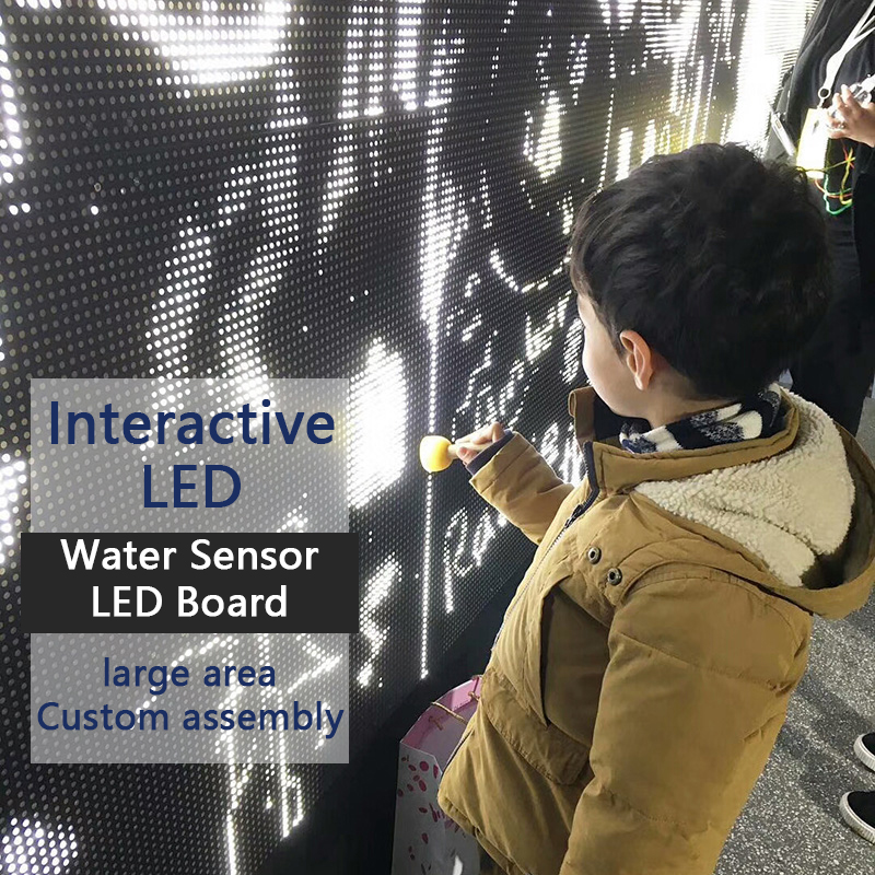 a agua interativa do contato do diodo emissor de luz do sensor de agua vai brilhar