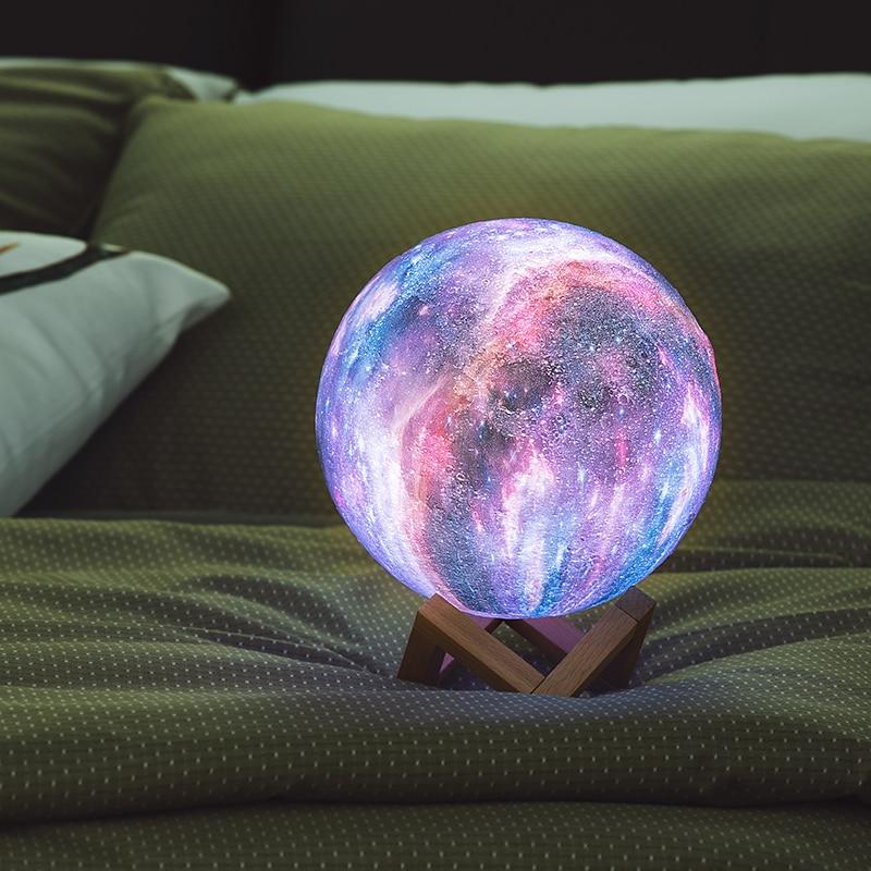 3D Print Star Moon Lamp Colorful
