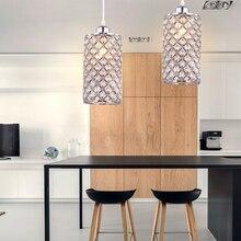 Современная хрустальная светодиодная люстра, подвесные потолочные лампы E26/E27, подвесной светильник, лофт для кухни, столовой, настольная лампа, осветительные приборы