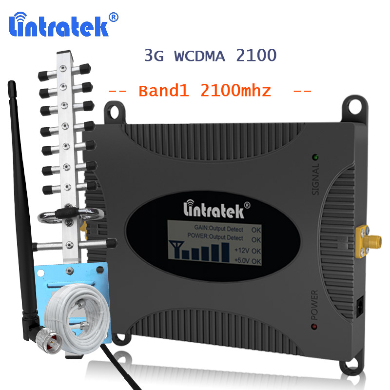Lintratek 3G Signal Booster WCDMA 2100MHZ Cell Phone Cellular Signal Communications Amplifier Repeater 3g UMTS HSPA Repeater