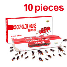 10pcs Killing Roach House Anti Cockroach Trap Bait Included Disposable Killer Glue