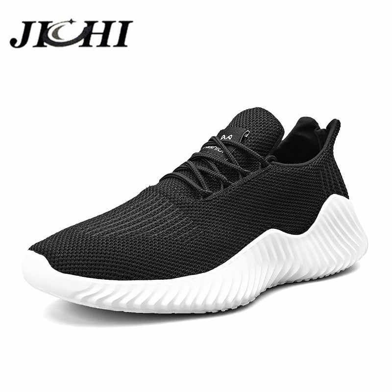 JICHI herren Sneakers Bequeme Atmungs Casual Sneaker Leichte Männer Casual Schuhe Lace-up Mesh Mode Zapatillas Hombre