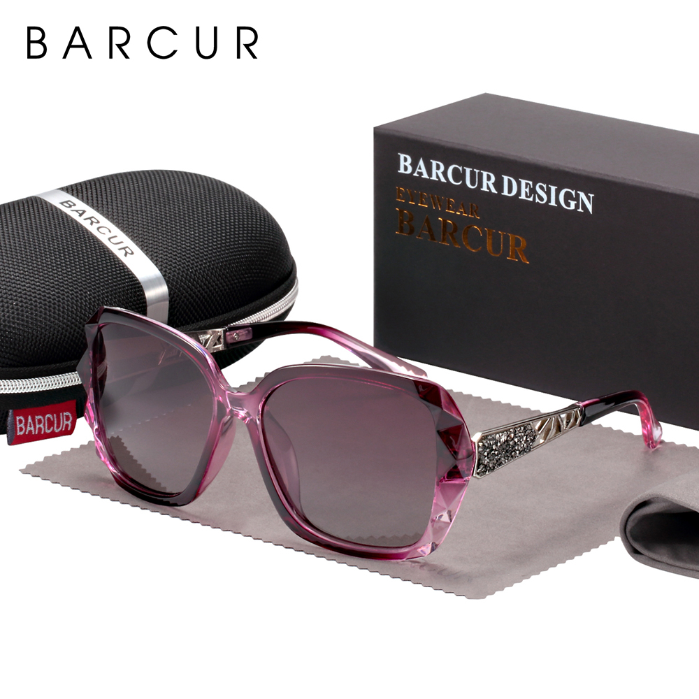 BARCUR Original Sunglasses Women Polarized Elegant Design For Ladies Sun Glasses Female 1