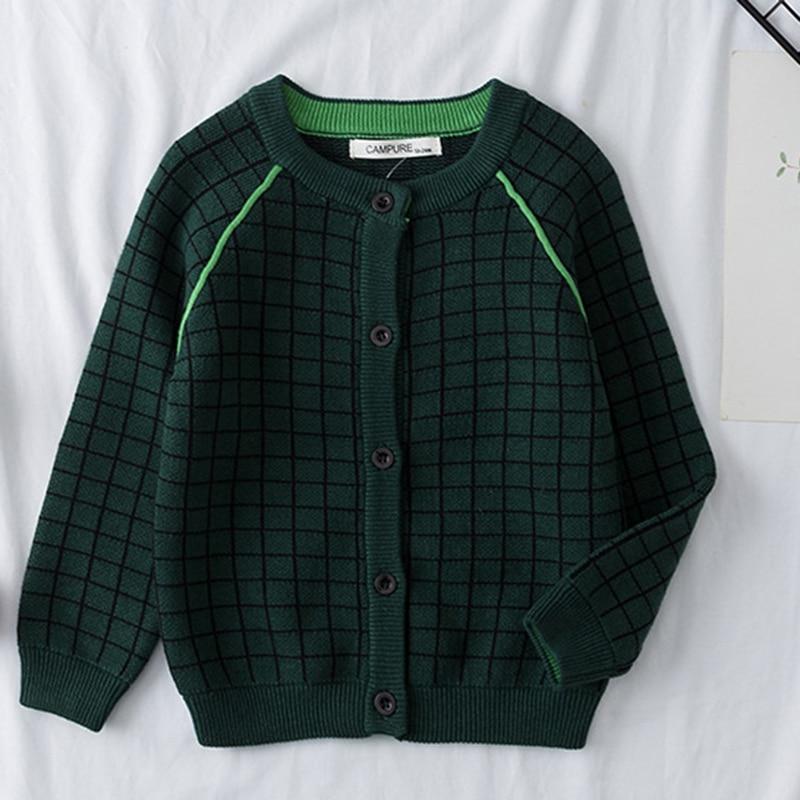 2021 New Baby Boys Girls Cardigan Autumn Lattice Sweater Top Baby Children Clothing Baby Boys Girls Knitted Cardigan Sweater 2
