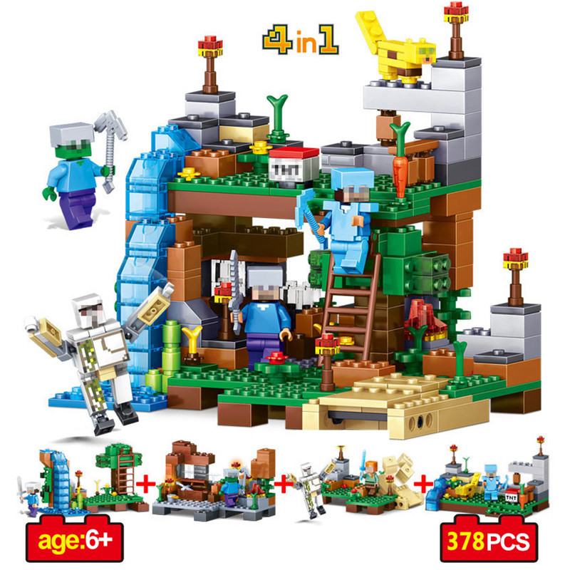 378pcs-4-In-1-Minecrafted-Figures-Building-Blocks-DIY-Garden-Bricks-Toy-Gift-For-Kid-Legoings
