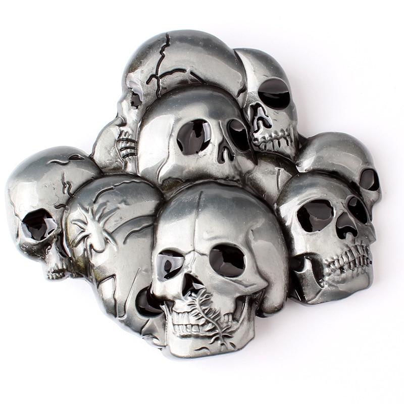 Skull Skeleton Belt Buckle Belt DIY Accessories Western Cowboy Style Smooth Belt Buckle Punk Rock Style K25
