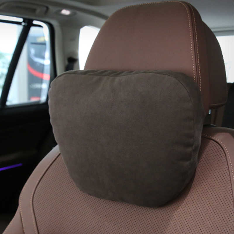 Maybach 디자인 S 클래스 울트라 소프트 Natrual 자동차 머리 받침 목 좌석 쿠션 커버 메르세데스-벤츠 BMW Audi Toyota Honda