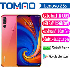 Lenovo Snapdragon 710 Z5s Smartphone 128GB 6GB CDMA/GSM/WCDMA/LTE Adaptive Fast Charge
