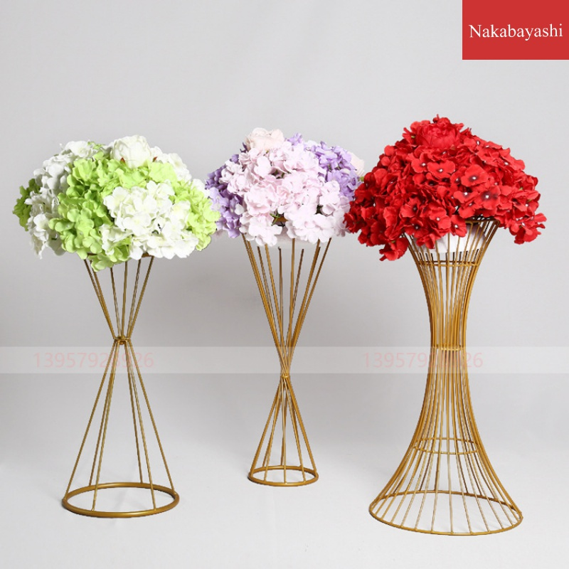 70/60CM/50CM Flower Vases Gold/ White Flower Stands Metal Road Lead Wedding Centerpiece Flowers Rack For Event Party Decoration