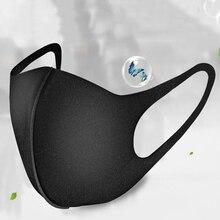 1Pcs Unisex Mond Maskers Anti Dust Gezicht Mond Cover PM2.5 Masker Stofdicht Anti Bacteriële Outdoor Reizen Bescherming Stof masker Zwart