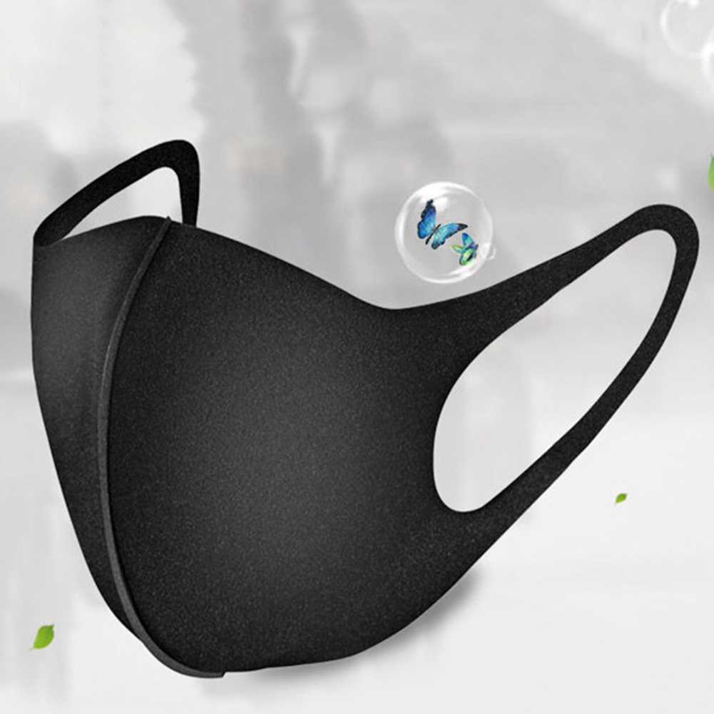 1Pcs Unisex Mouth Masks Anti Dust Face Mouth Cover PM2.5 Mask Dustproof Anti-Bacterial Outdoor Travel Protection Dust Mask Black