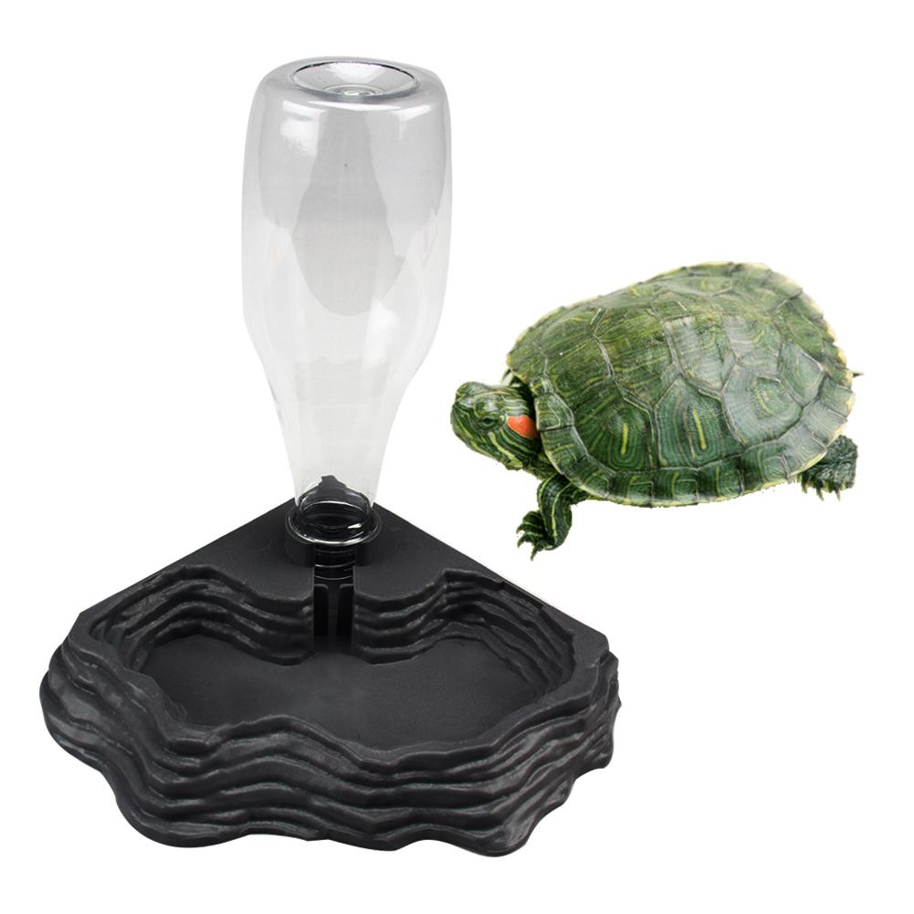 400ML Pet Reptiles Turtles Feeder Water Dispenser Drinking Fountain Dish Bowl Tortoise Lizard Basin Reptile Box Feeding Supplies