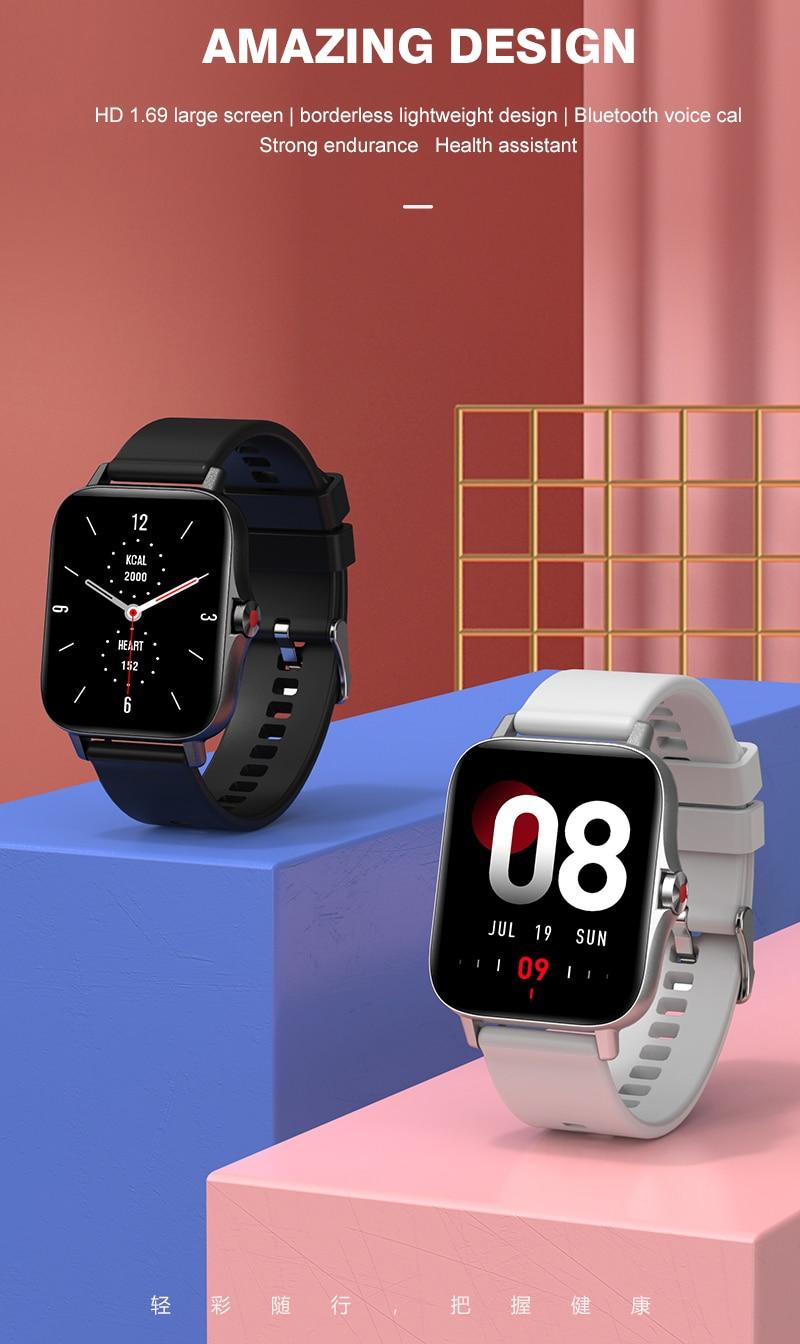 Hb8c9c4021ace4d108897bdc020e94515J For Xiaomi Apple Phone IOS Reloj Inteligente Hombre Smartwatch 2021 Men Bluetooth Call Smart Watch Man Woman Full Touch IP68