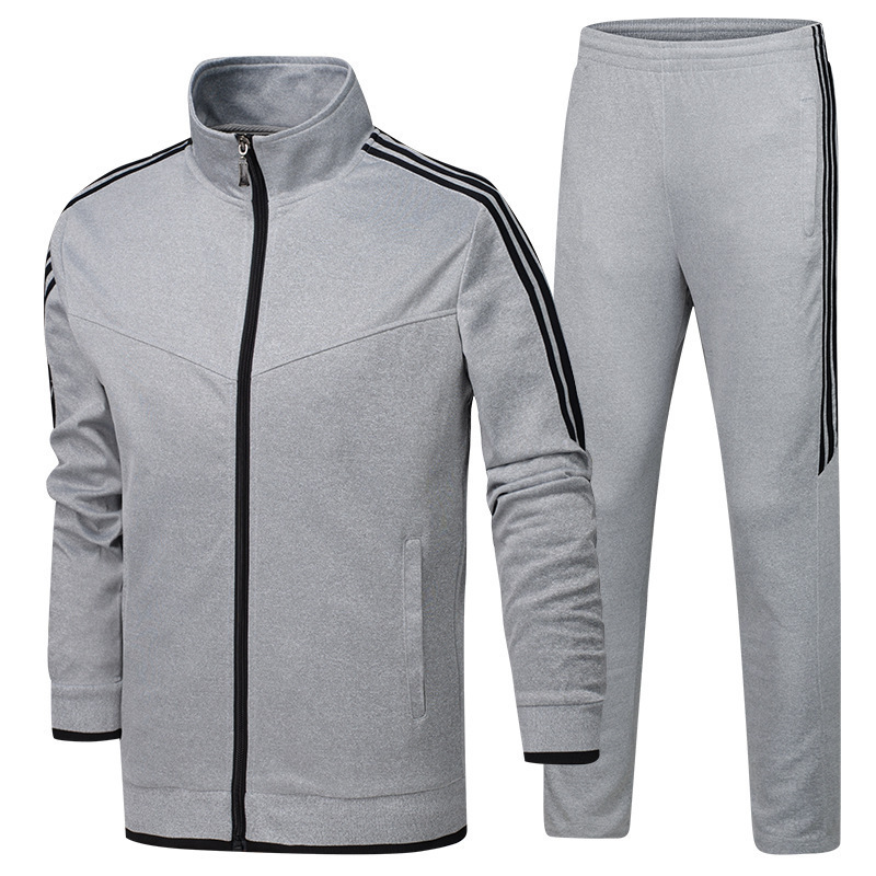 Middle-aged Sports Set Men's Large Size Outdoor Fitness Sports Clothing Spring And Autumn Casual Two-Piece Set