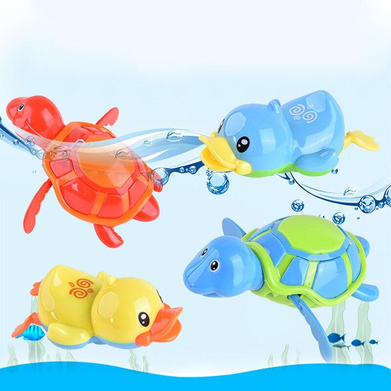 Cute Cartoon Water Toy Animal Tortoise Classic Baby Infant Swim Turtle Wound-up Chain Clockwork Kids Beach Bath Toys