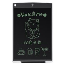 black Ultra Thin 12 Inch LCD Digital Writing Tablet Drawing Board Sketchpad Electronic Graphic Board with Mouse Pad Ruler 1sets magic turtle rabbit sketchpad ruler educational drawing board variety puzzle million flowers multifunctional ruler