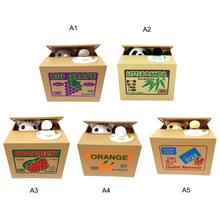 Cute Automatic Stealing Money Toy Bank Coins Saving  Case Birthday Gift for Children Student gift Money box abwe best sale stealing steal coins mouse gift coins funny box useless box