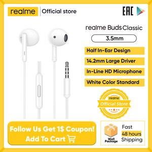 Realme бутоны классические наушники Встроенный микрофон с высокой четкостью встроенный музыкальный r вызова Управление клубок бесплатно 14,2 м...