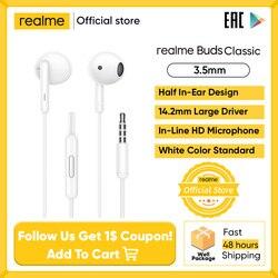 Realme Knoppen Klassieke Oortelefoon In-Line Hd Microfoon Ingebouwde Muziek R Call Control Wirwar Gratis 14.2Mm audio Drive Voor Smartphone