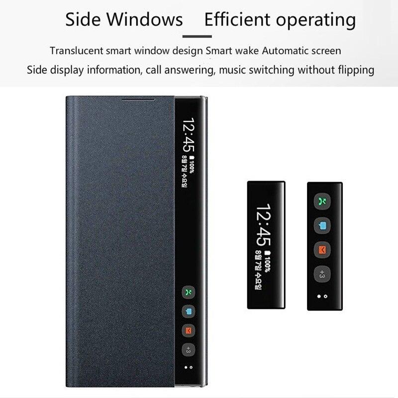 Luxury Vertical Window Flip Phone Case