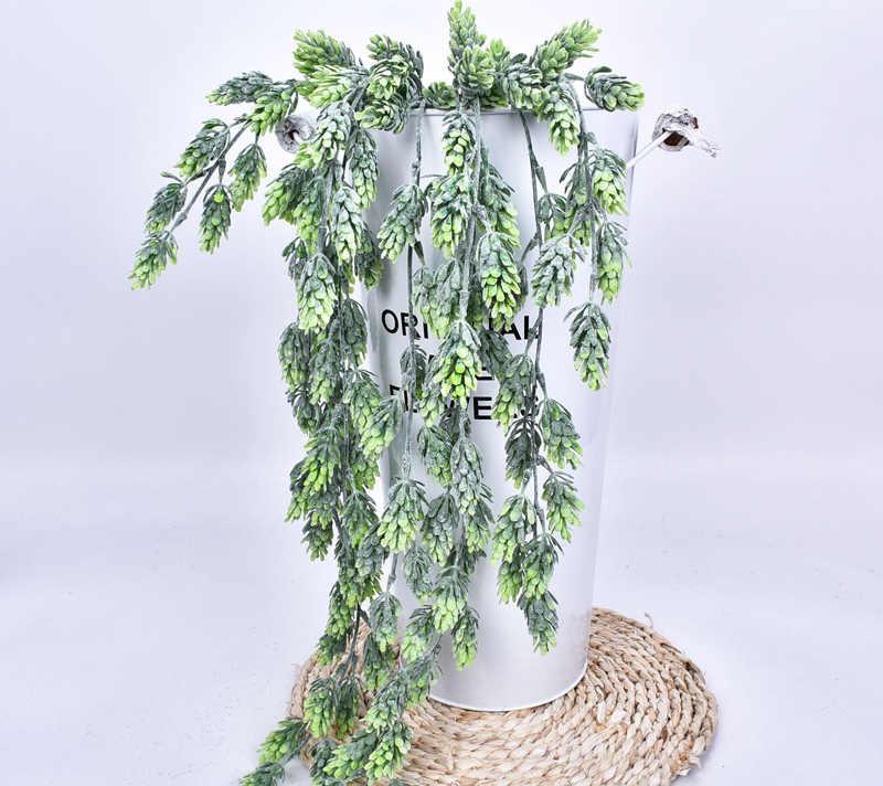 80 см 5 вилок искусственный хмель лоза настенный подвесной ротанговый пластик растения зеленый Рождество сосны ветка для украшения дома и сада