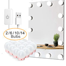 Makeup-Mirror-Light Usb-Table-Mirror LED Professional 14bulbs-Hollywood with 6-10