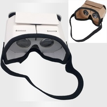 Lekki zamek Google Cardboard Style Virtual Reality VR okulary dla 3 5 #8211 6 0 cala Smartphone szkło dla iphone dla samsung tanie tanio DIDIHOU Podwójny Smartfony CN (pochodzenie) Lornetka Wciągające Spolaryzowane 3D Glasses VR Box Okulary Tylko Pakiet 1