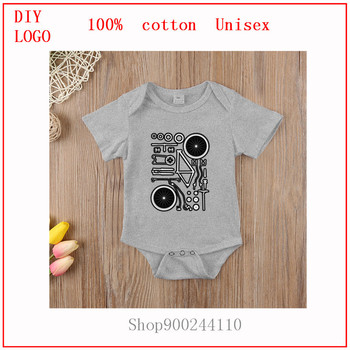 Bike Exploded printed Bodysuits baby Summer Short Sleeve clothing Fashion new born baby boy clothes 3 to 6 months baby romper image