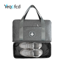 Yeqofcd Waterproof Beach Travel Bags Dry Wet Separation Handheld Swimming Bag Double Layer Zipper Shoe Packet Large Capacity