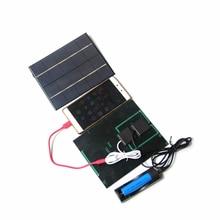 5 в 3,5 Вт солнечная панель Бассейн Доска солнечное зарядное устройство для мобильного телефона зарядная плата может заряжать 18650 перезаряжаемая батарея с 18650 чехлом