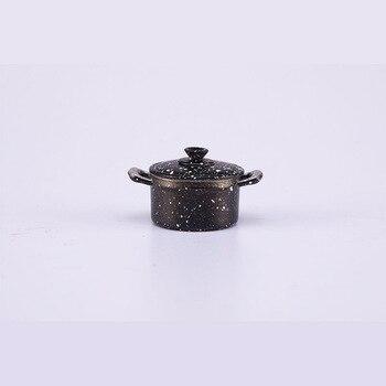 Mini dollhouse dollhouse kitchen accessories big soup pot mini alloy soup pot color soup pot model soup page 2