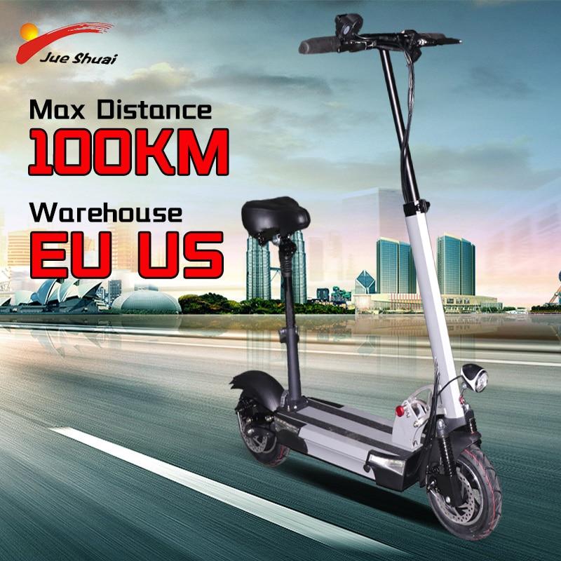 Grosser Verkauf 20 Off Jueshuai Elektrische Roller Erwachsene 48v800w Motor Faltbare Zwei Rad Elektrische Tretroller Mit Sitz 100km Max Abstand E Roller