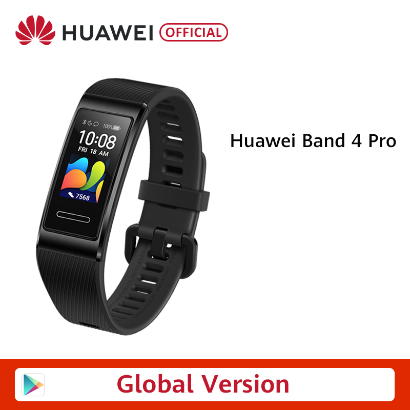 Global Version Huawei Band 4  Pro Amoled 0.95' Metal Material Heart Rate Sensor Sleep Bracelet GPS