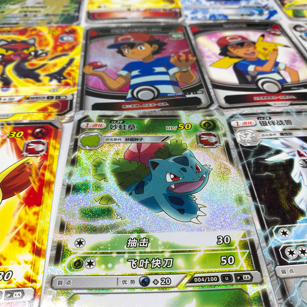 TAKARA TOMY Pokemon Cards Collections 150 Pcs/set 5 Pcs/bag Table Card Board Game Flash Card Toys For Children Christmas Gifts