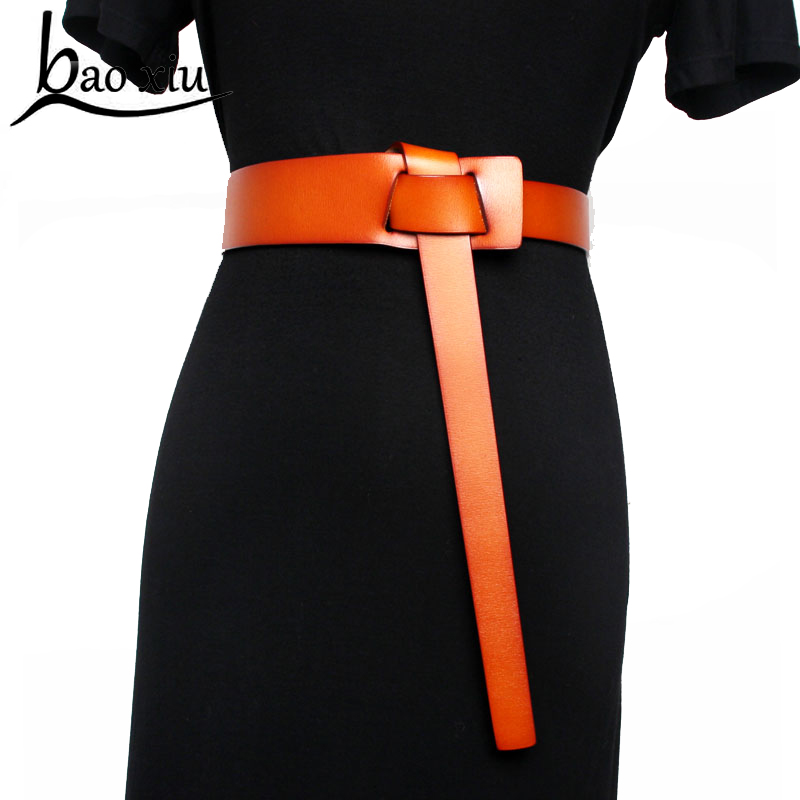 2019 Vintage Genuine Leather Metal Pin Buckle Long Belts For Women Retro Clothes Accessories Wide Dress Belt Accessory