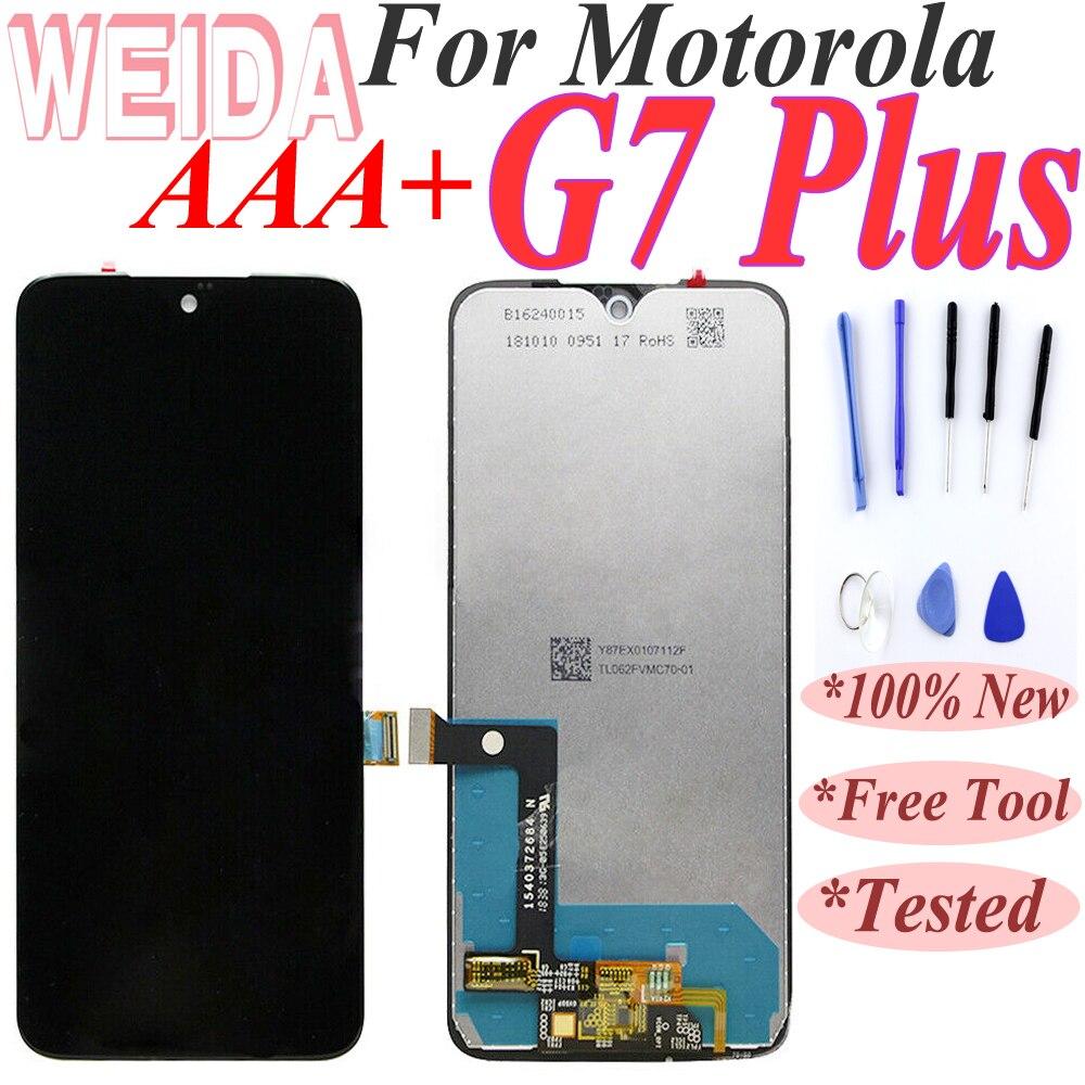 Где купить Новый 6,2 дюйма для MotoRola Moto G7 Plus XT1965 ЖК-дисплей сенсорный экран стекло дигитайзер + бесплатная доставка с инструментом