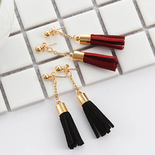 Fashion Short Tassel Earrings Pendant PU Leather Drop Fashiom Women Jewelry