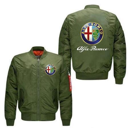 2020 New coat Alfa Romeo Jacket Fashion Anime New Cosplay Flying Jacket Men's New Men's Thickened Hoodie Zipper Shirt
