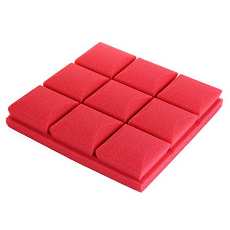 30X30X5cm Soundproof Sponge Acoustic Soundproof Sound Stop Absorption For Ktv Audio Room - ( Red) - Pro Audio Equipment Parts