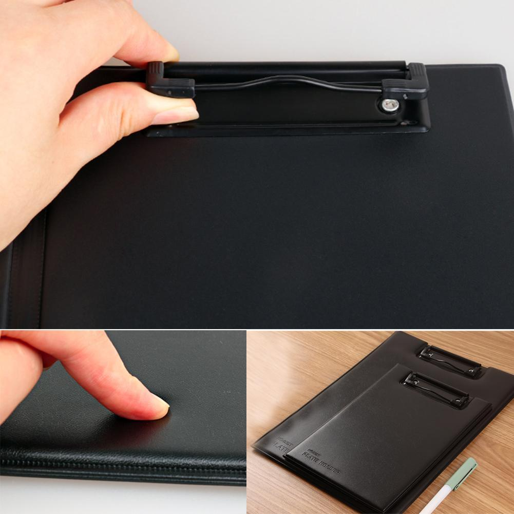 A4 A5 Signature Folder Board Leather Writing Pad Hotel Products Leather Conference Manager Filing Padfolio S1S6