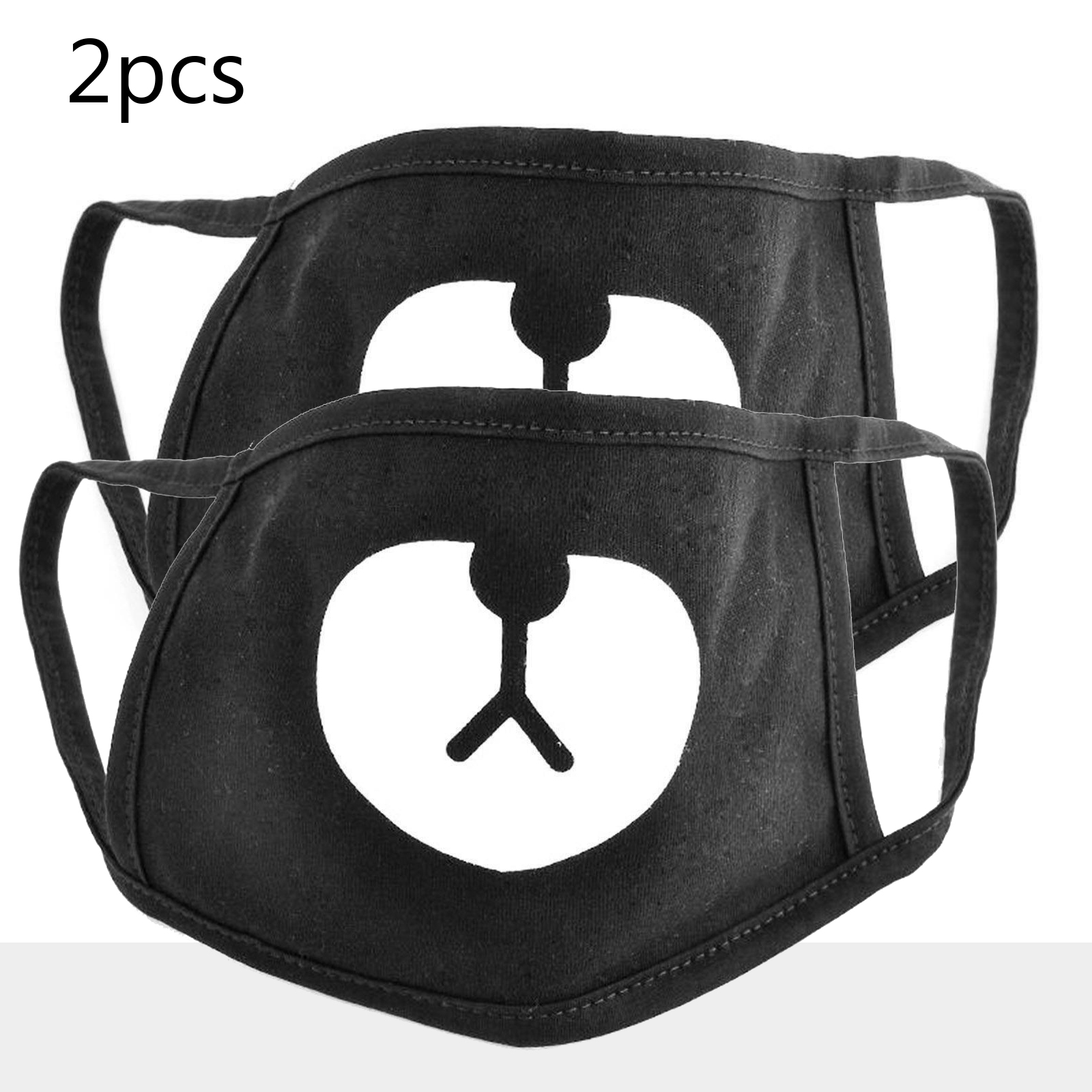 2Pcs Cotton Face Mask Men Women Black Muffle Mouth Mask Unisex Cycling Outdoor Dustproof Masks Outdoor Protection Cool