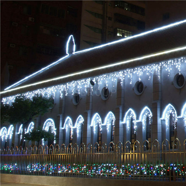3-30M Festoon Christmas Curtain Icicle LED String Light Indoor Outdoor Party New Year Garland Fairy Decoration Light for Home 3