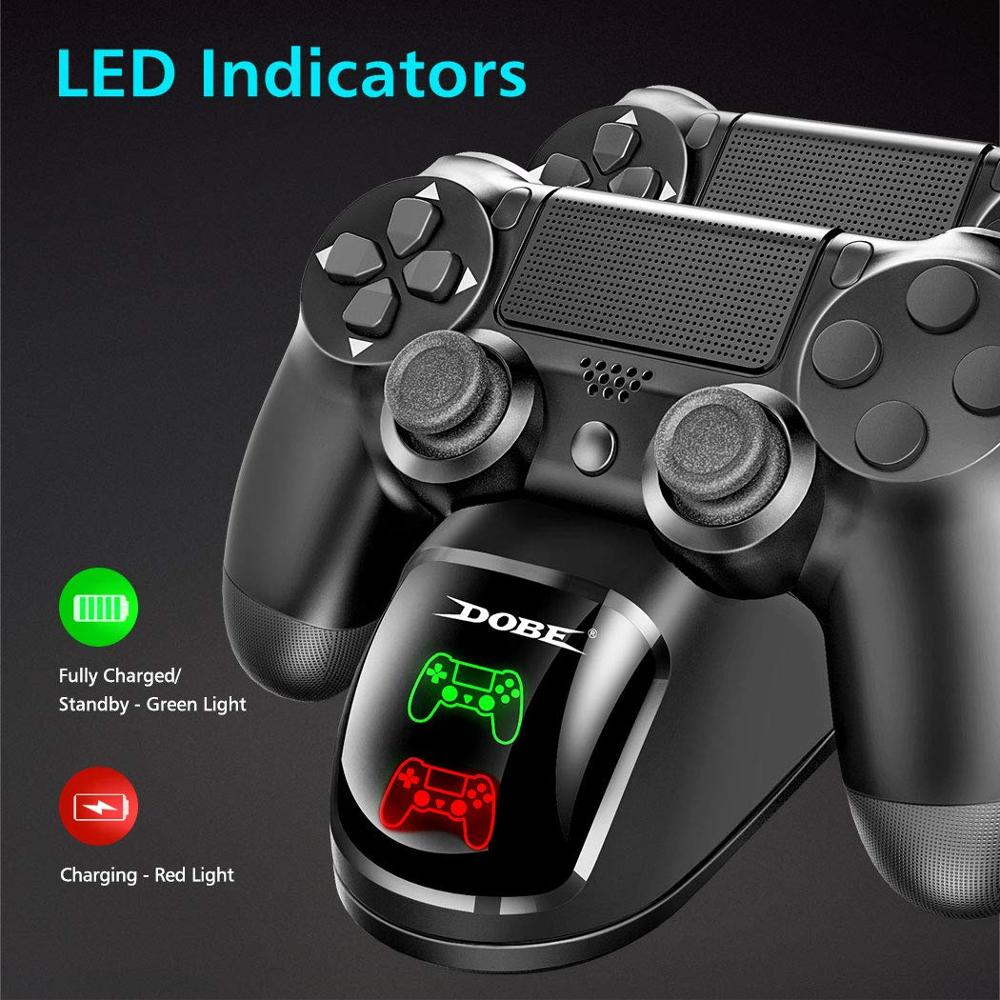 Dual USB Handle Fast Charging Dock Station Stand Charger for PS4/PS4 Slim/PS4 Pro Game Controller Joypad Joystick 1
