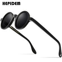 HEPIDEM Acetate Vintage Polarized Sunglasses Men Gregory Peck Brand Design Clear Round Sun Glasses for Women Retro Shades ZOLMAN