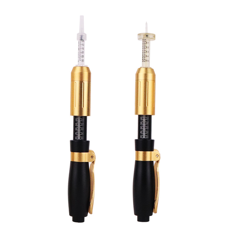 2 In 1 Hyaluron Pen 0.5/0.3 Ampoul Atomizer Hyaluronic Meso Injection Gun Lip Filler Injector Noninvasive Nebulizer For Wrinkles