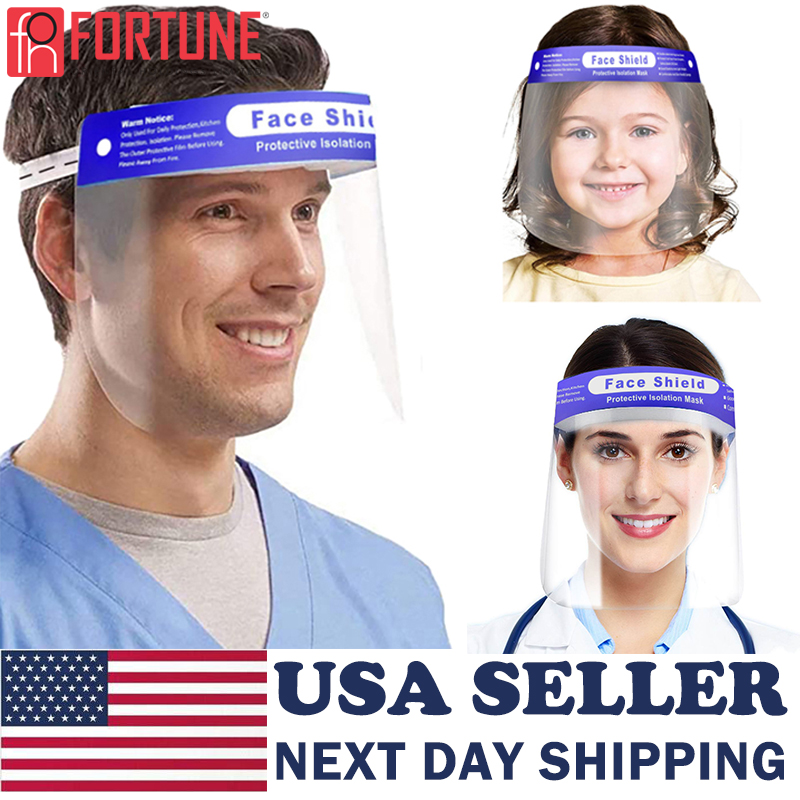 Face Sheild Plastic For Kids And Adults Safety Guard Protector Elastic Band Can Adjust The Sizes Fast Delivery In The USA