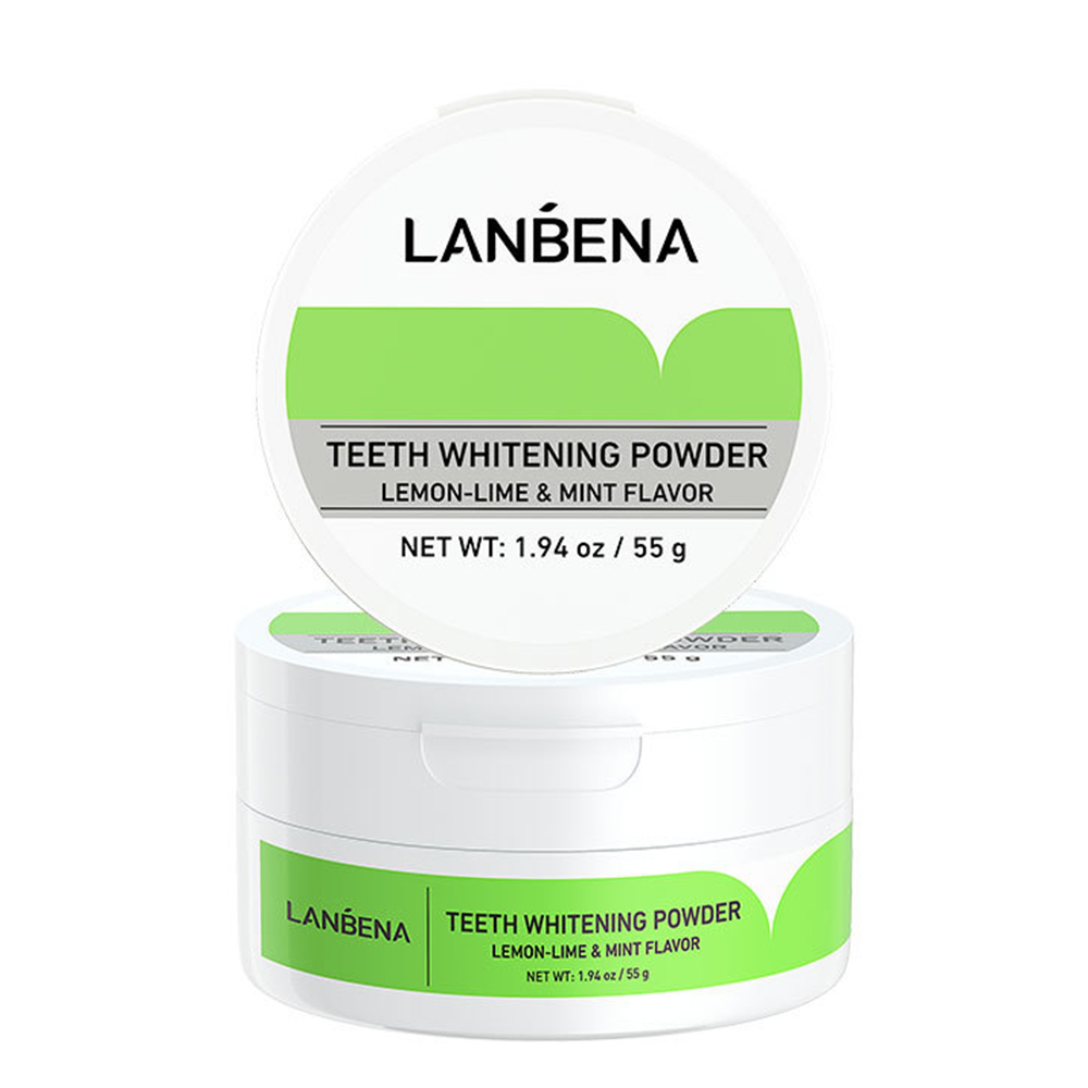 Teeth Whitening Powder Tangy Lemon Lime Hygiene Dental Powder Tooth Cleaning Bright Teeth Remove Tartar Safe Protect Oral Care