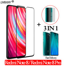 Airbag Shockproof Case + Tempered Glass for Xiaomi Redmi Note 8Pro 3-in-1 Screen Protector Back Film Glass redmi note 8 3D Glass airbag shockproof case tempered glass for iphone 11 pro 3 in 1 screen protector back film glass on iphone11 11 promax 3d glass