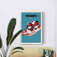 Hot Michael Jordan Shoes Air Max Sneaker History AJ Art Poster Canvas Painting Wall Picture Home Decor Posters and Prints стоимость